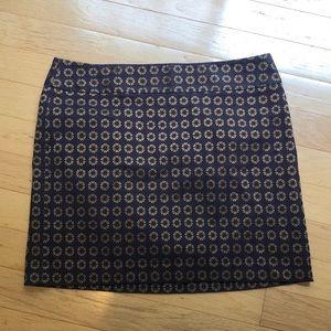 LOFT Outlet Flower Miniskirt